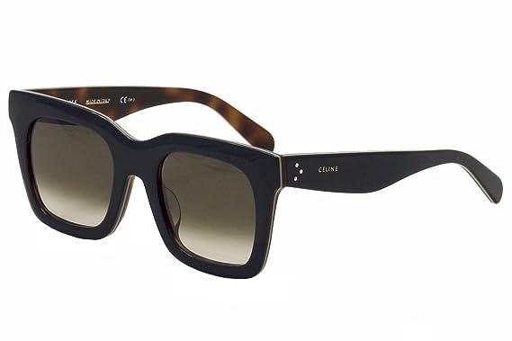 c4100ae6ba26 Celine 273 Blue / Beige / Havana 41411FS Square Sunglasses Lens Category 3