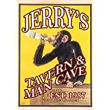 Personalized Metal Bar Man Cave Wall Sign with Monkey Tavern Design perfect gift for Bestman, Groomsmen gift Him