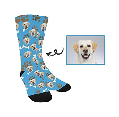 604a08e9aa6b Image Unavailable. Image not available for. Color  Happy More Custom  Personalized Your Own Sports Printed Unisex Socks