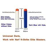 AMOSTING 200PCS Refill Darts Foam Bullets for Nerf N-strike Elite Blasters Gun - 10 Color