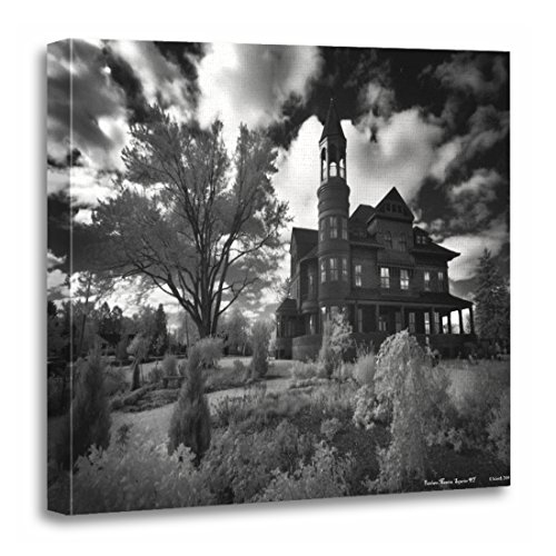 TORASS Canvas Wall Art Print Victorian Fairlawn Mansion Haunted Ghost Spook Paranormal Artwork for Home Decor 20'' x 20'' by TORASS