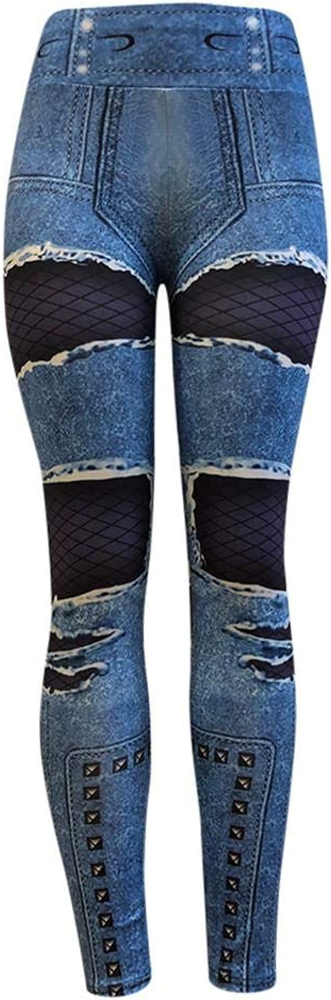 VJGOAL Moda Casual para Mujer Color Profundo Pantalones Vaqueros ...
