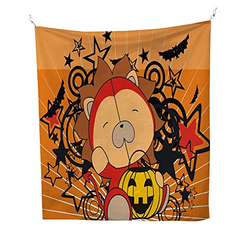 (25 Home Decor Tapestries Baby Lion Demon Costume Cartoon Halloween background1 dope Tapestries 60W x 91L)
