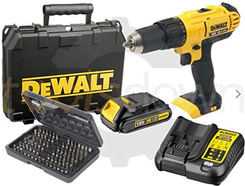 Dewalt 18v XR Cordless Lithium Combi Drill & Driver, With Hammer Action...