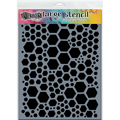Dylusions Ranger Large Honeycomb Stencil: Amazon.co.uk: Kitchen & Home