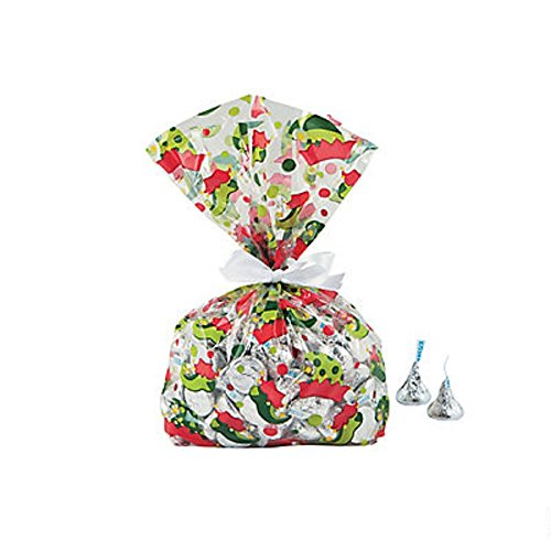 Elf Cellophane Party Bags ~ 12 Bags ~ 5
