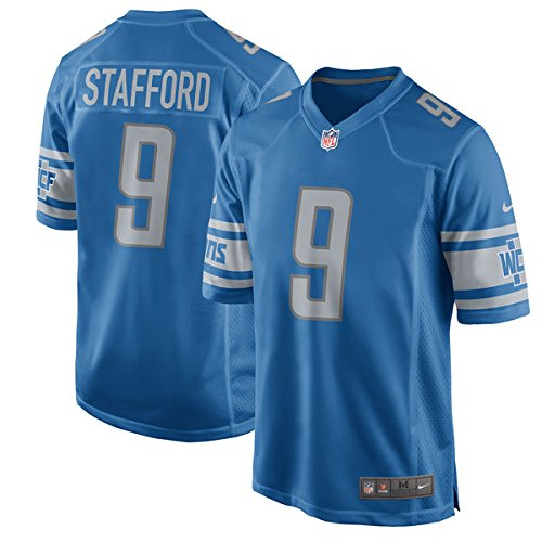 Nike NFL Detroit Lions Matthew Stafford Boy's Replica Football Jersey - - Blue Replica Nfl Football