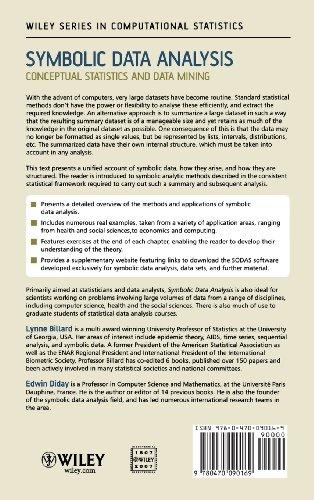 Symbolic Data Analysis Conceptual Statistics And Data Mining Buy