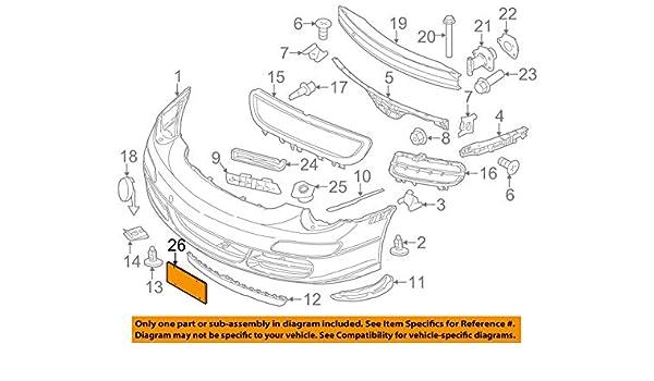 Porsche 911 997 License Plate Base Bracket OEM Front Genuine New Warranty