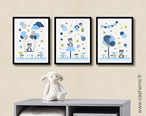 Affiche enfant décoration chambre bébé garçon déco chambre enfant ...