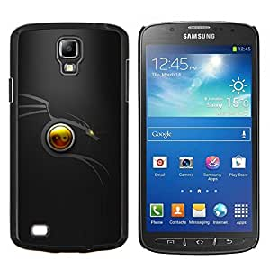 YiPhone /// Prima de resorte delgada de la cubierta del caso de Shell Armor - Dragón tribal Mínimo - Samsung Galaxy S4 Active i9295