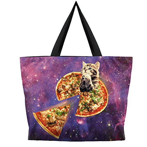 Printing Shopping Belsen handbag Bags Shoulder Women's Fashion cat Pizza IqIOwt7