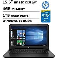 2016 Newest HP Premium High Performance 15.6-inch HD Laptop ( Intel Core i5-5200U Dual-Core 2.2 GHz, 4GB DDR3L, 1TB HDD, DVD RW, Webcam, WiFi, HDMI, Windows 10 ) - Black