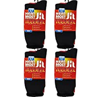 DEBRA WEITZNER Mens Thermal Socks – 4 Pair Insulated Heated Socks – Boot Socks For Extreme Temperatures