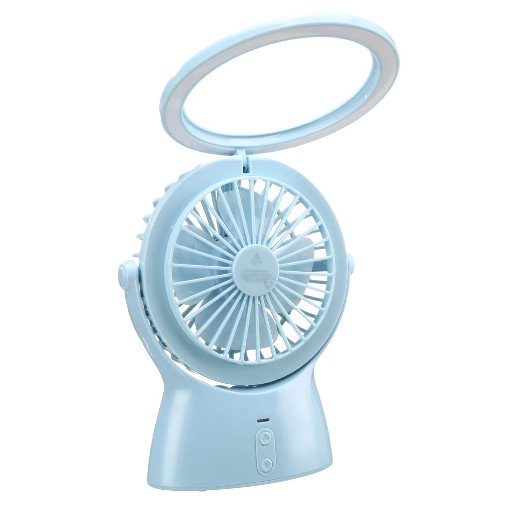 Walk Diary S1 Small Desk Fan Battery Operated Fan and Led Night Light 2 in 1