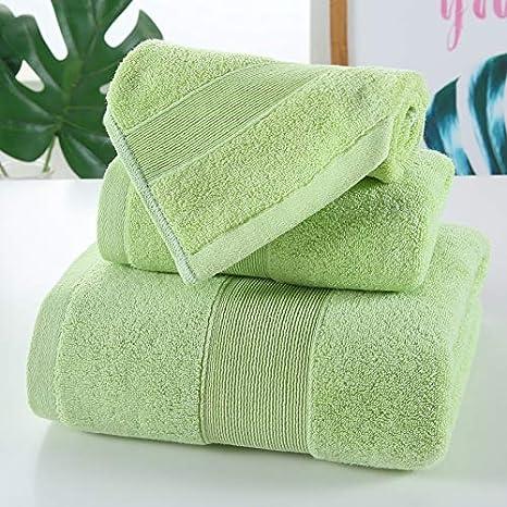 xllx Asciugamano in Cotone Set Un Asciugamano Due Asciugamani Bagno casa Nuoto Bianco A Tre Pezzi