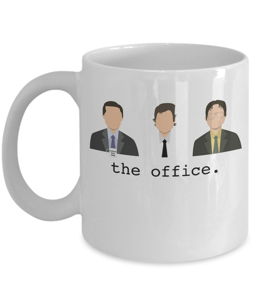 The Office Mug - The Crew by: Trinkets & Novelty - The Office Merchandise. 11-oz Funny The Office Coffee Mug - Dwight Schrute Worlds Best Boss Dunder Mifflin Coffee Mug. Thats What She Said!