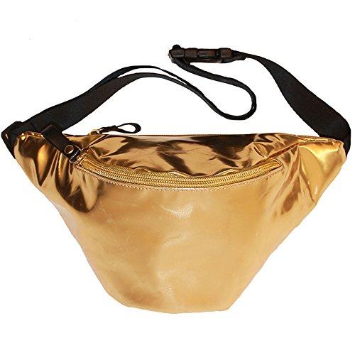 Shiny Gold Retro Fanny Pack
