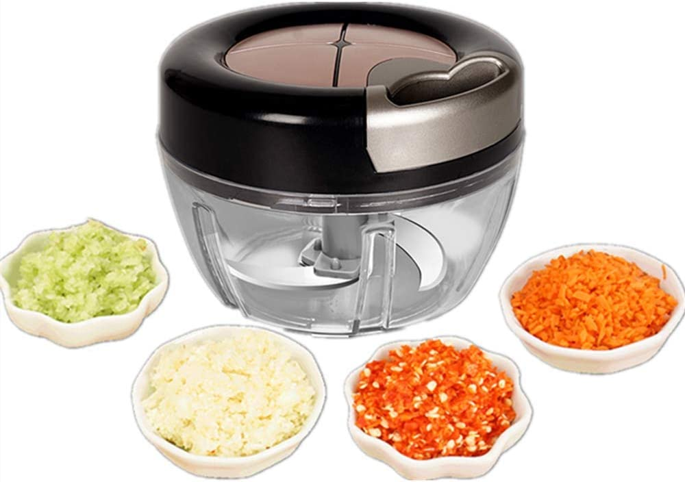 JF Manual Food Chopper, Powerful Manual Hand Held Chopper/Blender to Vegetable Fruits Nuts Onions Hand Pull Mixer PortableFood Processor