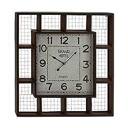 Deco 79 53313 Metal Wall Clock, 28 x 28