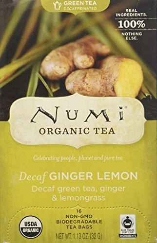 Numi Teas Numi Organic Tea Decaf Ginger Lemon Green Tea, 16 Count