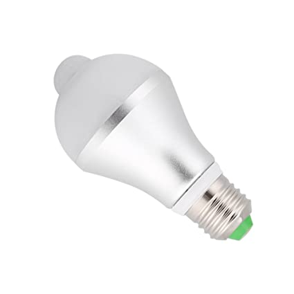 Bombilla LED Sensor de movimiento Bombilla, E27 5W PIR Infrarrojo Auto Amanece a la luz