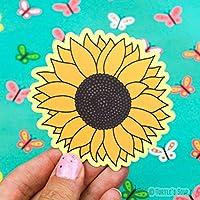 Sunflower Sticker, Vinyl Stickers, Sunflower Art, Plant Lover Gift, Car Decal, Floral, Girl Gift, Prairie Decor, Summer Bloom, Helianthus