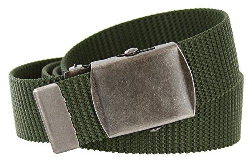 Duty Nylon Web Belt with Slide Buckle 1.25