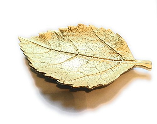 Daisy Bay Gold Leaf Decorative Tray ()