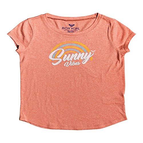 (Roxy Big Girls' Sunny Vibes Shirts,10/Medium,Pink Desert Sand)
