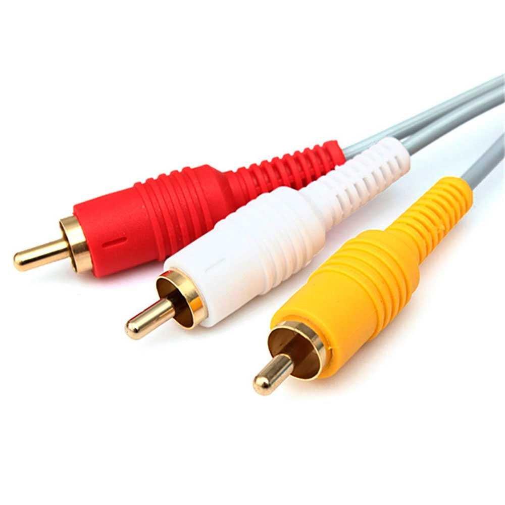 Ociodual Cable AV 3 RCA Video Audio Compuesto para Consola Nintendo Wii WiiU U Nuevo: Amazon.es: Electrónica
