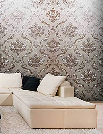 sports shoes 6fd38 bb83b EUROTEX Vinyl Coated Wallpaper, 57 Sq.ft, Almond Beige