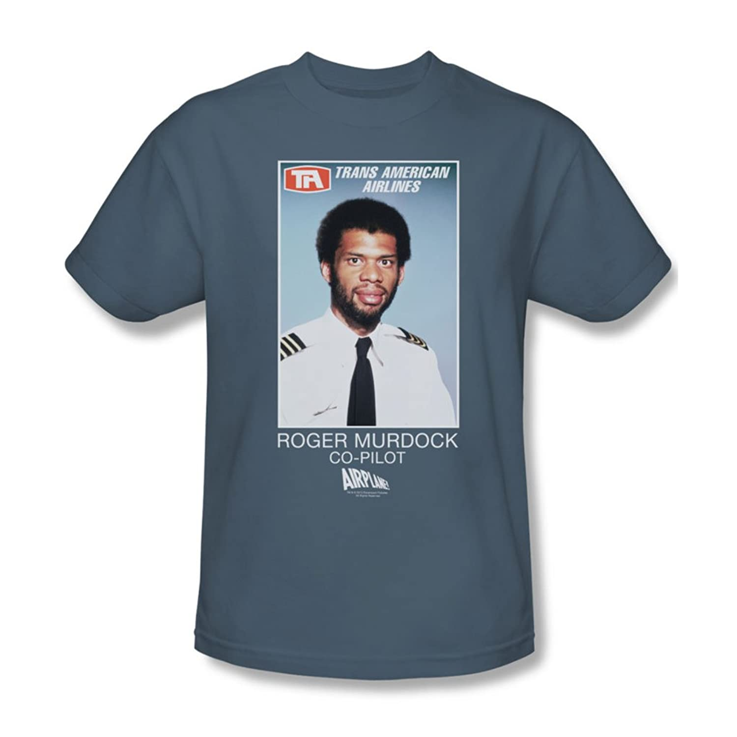 Airplane - Mens Roger Murdock T-Shirt In Slate