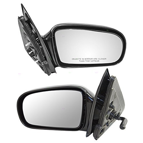 Door Cavalier (Driver and Passenger Manual Remote Side View Mirrors Replacement for Chevrolet Cavalier Pontiac Sunfire 10362467 22728849)