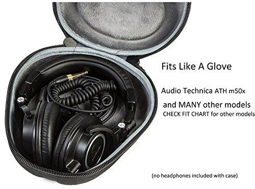 Audio-Technica ATH-M50x Professional Monitor Headphones + Slappa Full Sized HardBody PRO Headphone Case (SL-HP-07) - Image 7