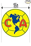 America Mexico Soccer Football Club FC 2 Stickers Car Bumper Window Sticker Decal Huge 18 inches