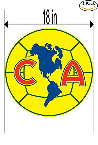 America Mexico Soccer Football Club FC 2 Stickers Car Bumper Window Sticker Decal Huge 18 inches by CanvasByLam
