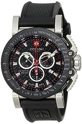 "Zodiac ZMX Men's ZO8503 ""Racer"" Stainless Steel Watch with Black Rubber Strap"