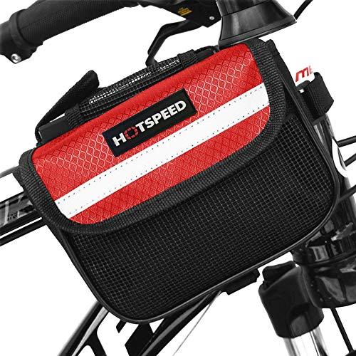 Ningbao Exterior MTB Carretera Bicicleta Marco Delantero Bolsa Bicicleta viga Bolsa Bicicleta Tubo Bolsa