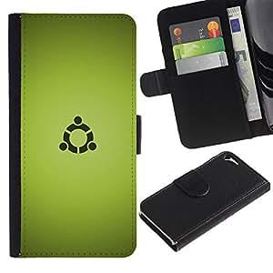 JackGot ( Portal Sign ) Apple Iphone 5 / 5S la tarjeta de Crédito Slots PU Funda de cuero Monedero caso cubierta de piel