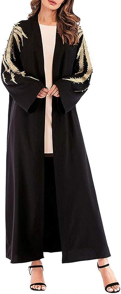 TENDYCOCO Bata musulmán Bata túnica de Gran tamaño Vestido ...