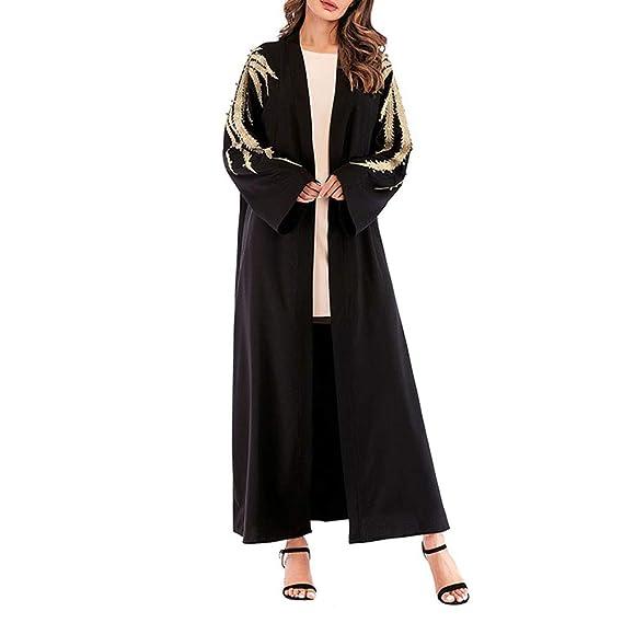 TENDYCOCO Bata Musulmana Bata túnica de Gran tamaño Vestido Suelto ...