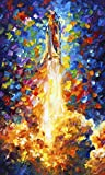 Space Shuttle is a Limited Edition print from the Edition of 400. The artwork is a hand-embellished, signed and numbered Giclee on Unstretched Canvas by Leonid Afremov. Embellishment on each of these pieces will be slightly different, but the image i...