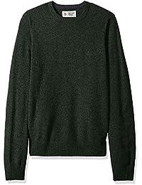 Men's Solid Lambswool Crew Sweater