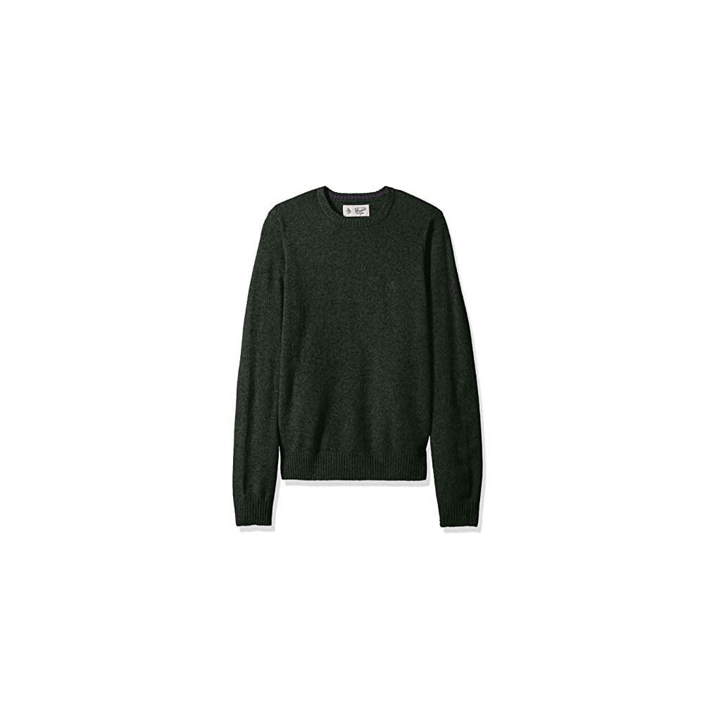 Original Penguin Men's Solid Lambswool Crew Sweater