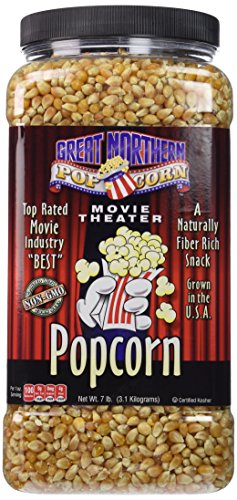 - Great Northern Popcorn Premium Yellow Gourmet Popcorn, 7 Pound Jug