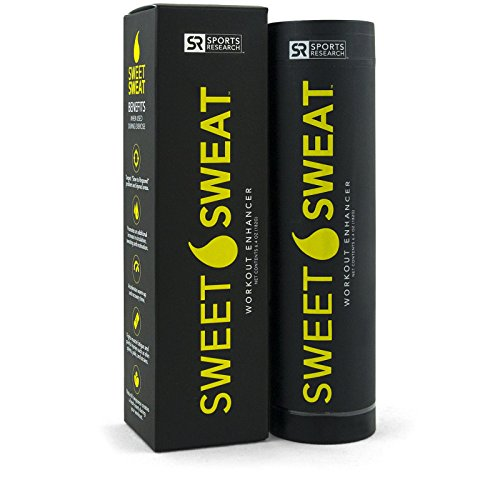 Sweet Sweat topical gel ~ Enhances your workout and helps Accelerate warm-up and Recovery time ~ 6.4 oz Sports Stick by Sports Research