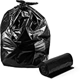 Contractor Trash Bags, 42 Gallon, 3-Mil, Large Heavy Duty Clean-Up Garbage Bags, 33'' W x 48'' H, 20/Count, By Veska
