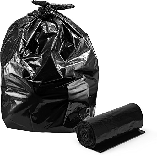 Contractor Trash Bags, 42 Gallon, 3 Mil Strength Equivalent, Large Heavy Duty Clean-Up Garbage Bags, 33