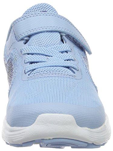NIKE Kids' Revolution 3 (Psv) Running-Shoes, Bluecap/Metallic Silver/Deep Royal Blue, 1 M US Little Kid by Nike (Image #4)